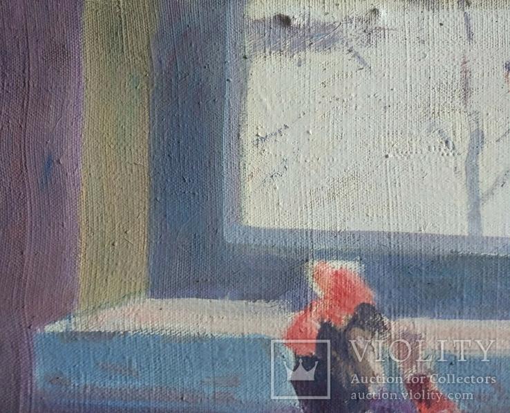 """В.Кнышевский.""""Снегири"""", х.м.,57*90см,1982г, фото №6"""