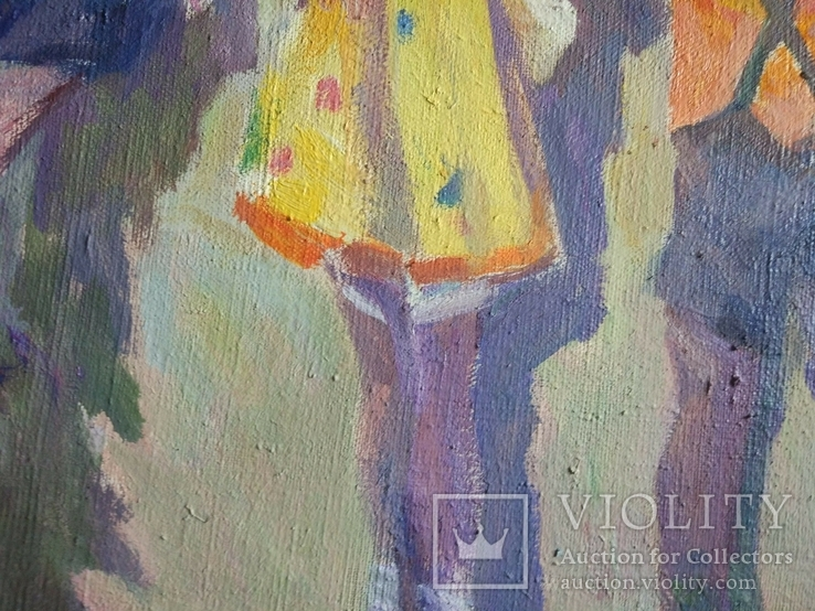 """В.Кнышевский.""""Снегири"""", х.м.,57*90см,1982г, фото №8"""