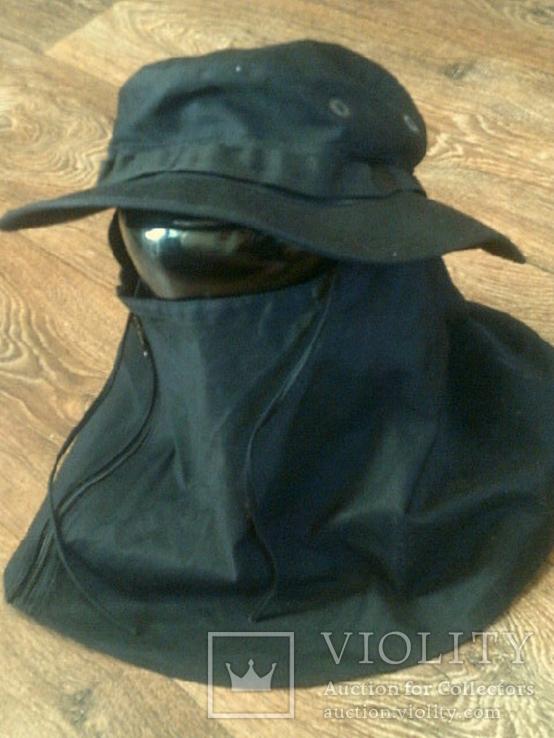 Черная шляпа - панама с шторкой (Usa), фото №5