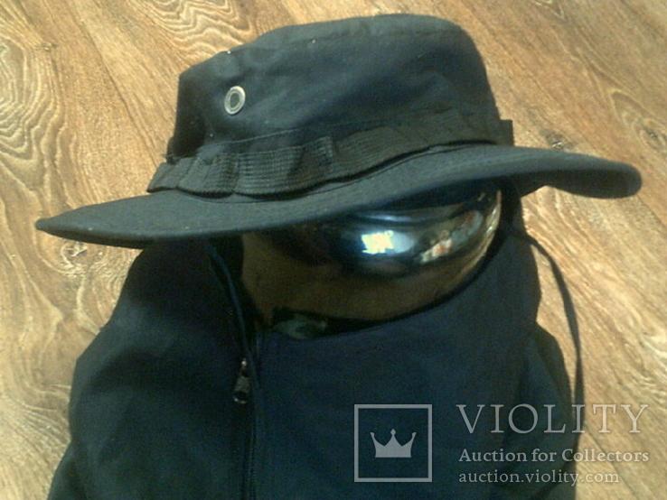 Черная шляпа - панама с шторкой (Usa), фото №7