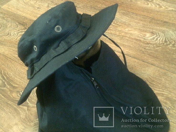 Черная шляпа - панама с шторкой (Usa), фото №8