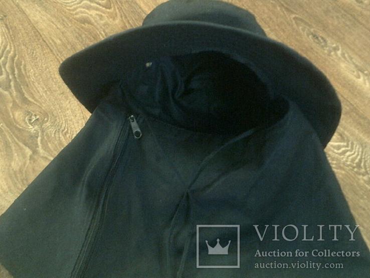Черная шляпа - панама с шторкой (Usa), фото №12