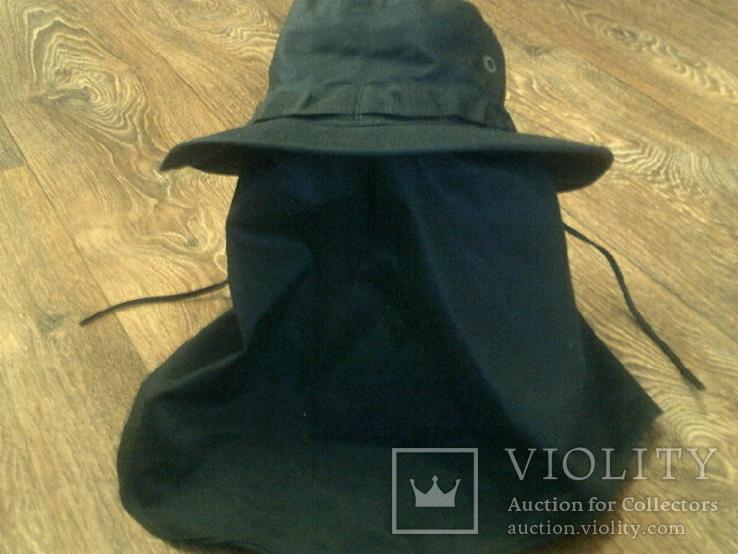Черная шляпа - панама с шторкой (Usa), фото №3