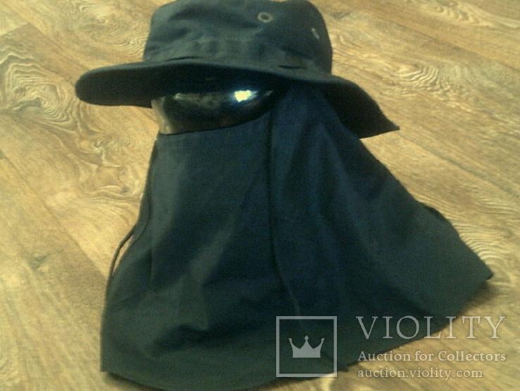 Черная шляпа - панама с шторкой (Usa), фото №13