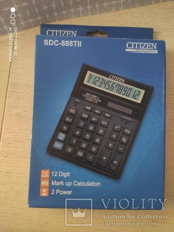 Калькулятор Citizen SDC-888TII Новый, фото №5