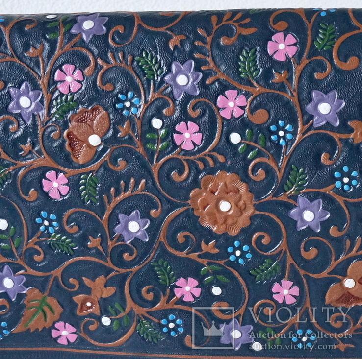 """Винтажная сумка из тисненой кожи """"Цветущий сад"""", фото №3"""