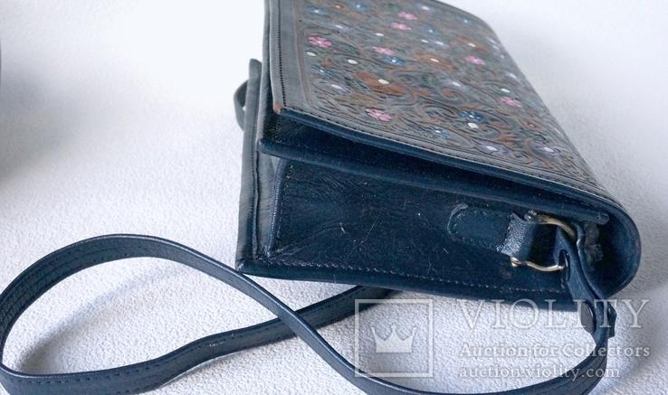 """Винтажная сумка из тисненой кожи """"Цветущий сад"""", фото №6"""