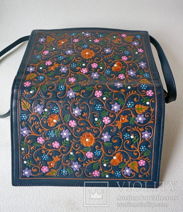 """Винтажная сумка из тисненой кожи """"Цветущий сад"""", фото №7"""