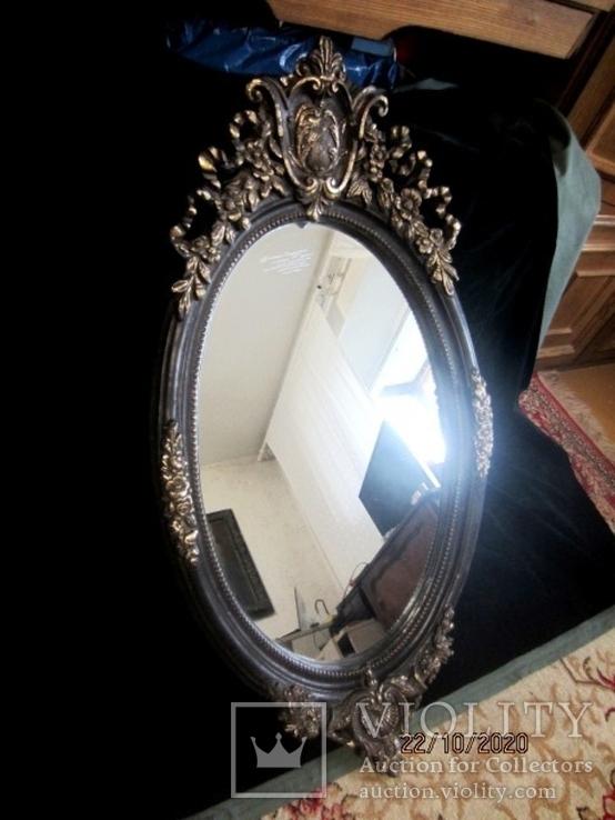Настенное зеркало барокко дерево грунт 105 cm x 57 cm винтаж, фото №10