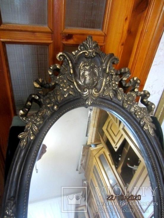 Настенное зеркало барокко дерево грунт 105 cm x 57 cm винтаж, фото №11