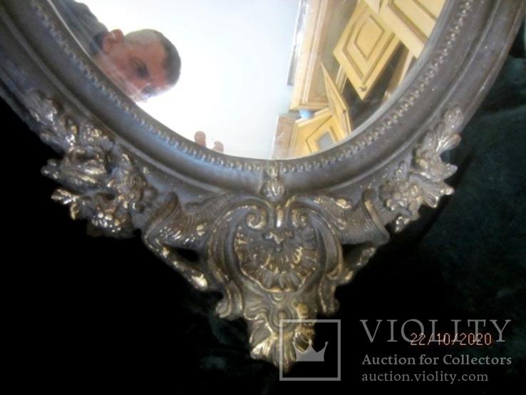 Настенное зеркало барокко дерево грунт 105 cm x 57 cm винтаж, фото №12