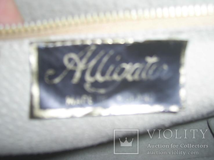 Сумка кожаная винтажная Alligator Англия 60-е годы, фото №5