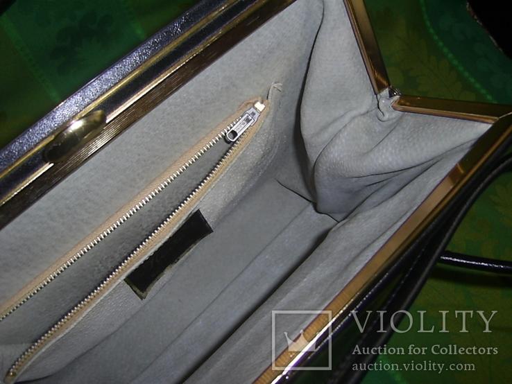 Сумка кожаная винтажная Alligator Англия 60-е годы, фото №7