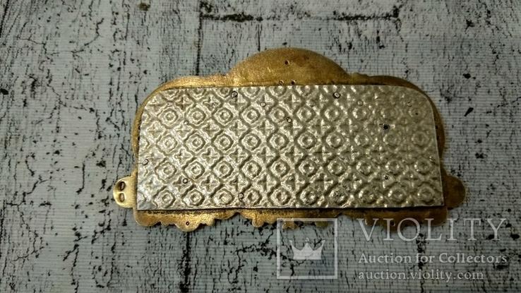 Серебряная икона триптих/ ДеИисус автомобильный, 925 + позолота, фото №6