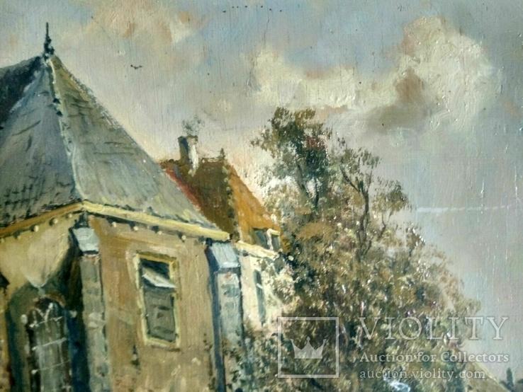 Неопознанный художник. Городской пейзаж. Начало 20 века, фото №4
