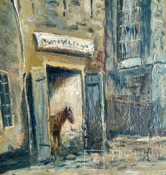 Неопознанный художник. Городской пейзаж. Начало 20 века, фото №5