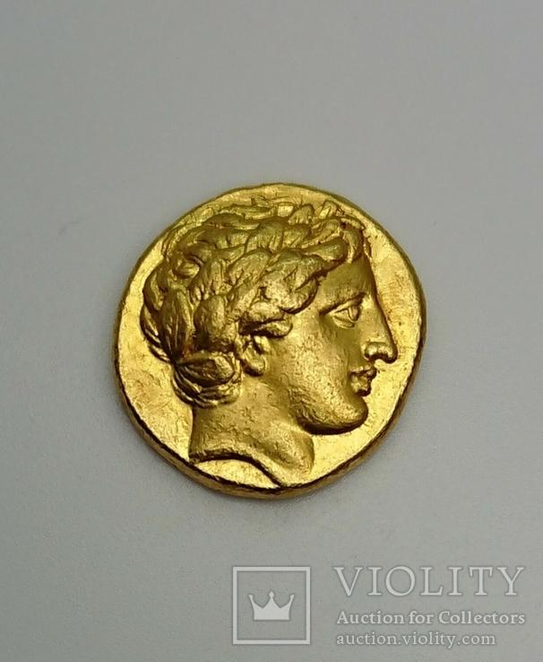 Золотой статер 340-328г.до н.э., монетный двор Пелла
