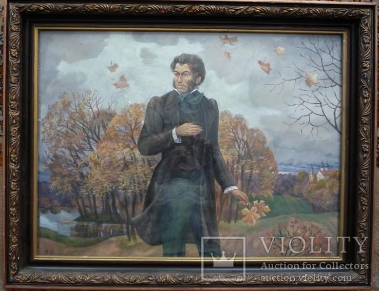 """В.Кофанов (1941 г.рожд.) """"А.С.Пушкин"""", фото №2"""