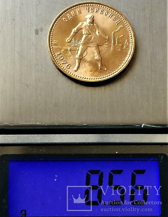 Червонець 1976 року, СРСР, золото, фото №4