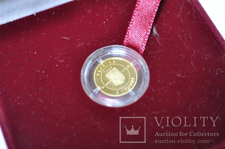 Золотая монета 2 гривны Лелека., фото №5