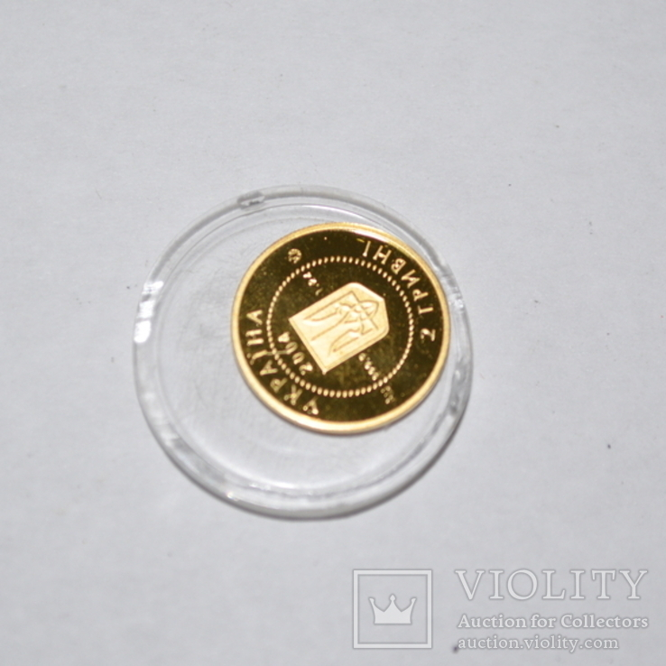 Золотая монета 2 гривны Лелека., фото №11