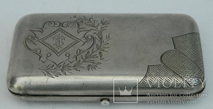 Серебряный портсигар 84* 1895 г. Николаев Дмитрий Николаевич