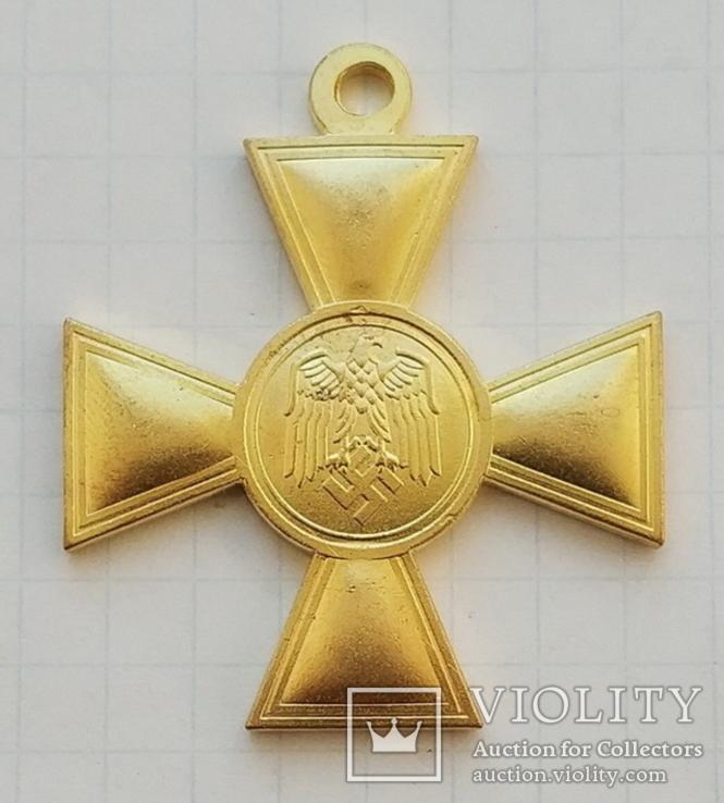 Третий Рейх. Крест «За выслугу лет в Вермахте» 1 ст. (за 25 лет) для Люфтваффе. Копия, фото №2