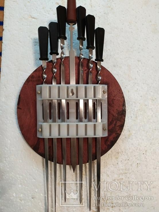 Шампура в настенном панно с чеканкой-головой барана, фото №5