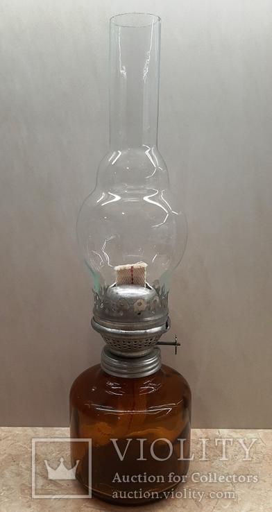 Керосиновая лампа СССР корпус цветное стекло, фото №2
