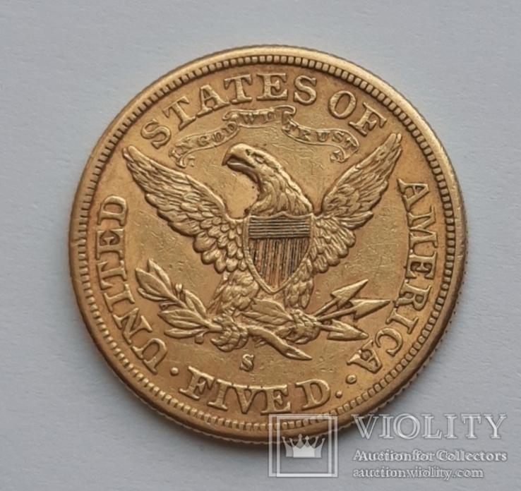 5 долларов 1880 сша, фото №3