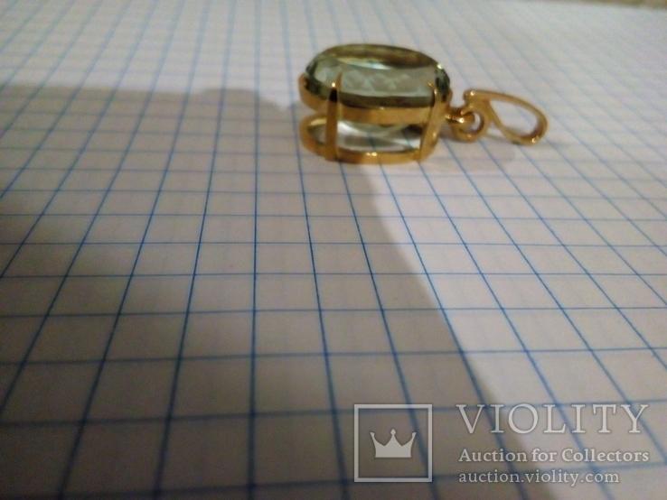 Золотой кулон с аметистом 585, фото №3