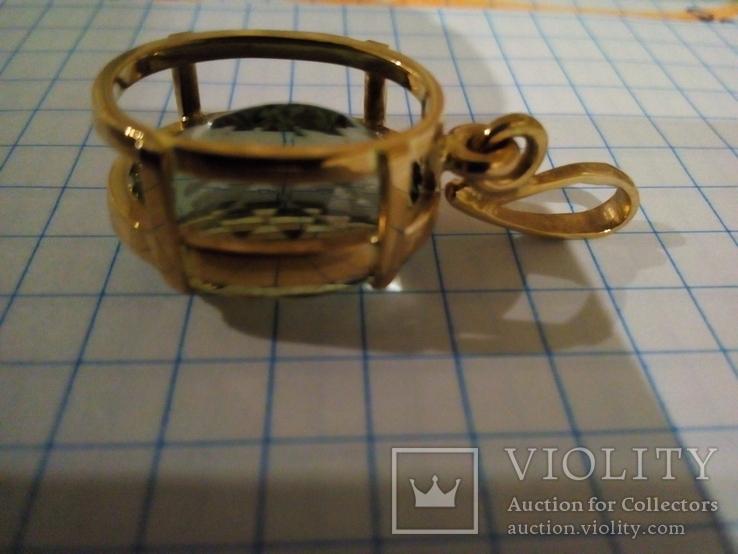 Золотой кулон с аметистом 585, фото №5
