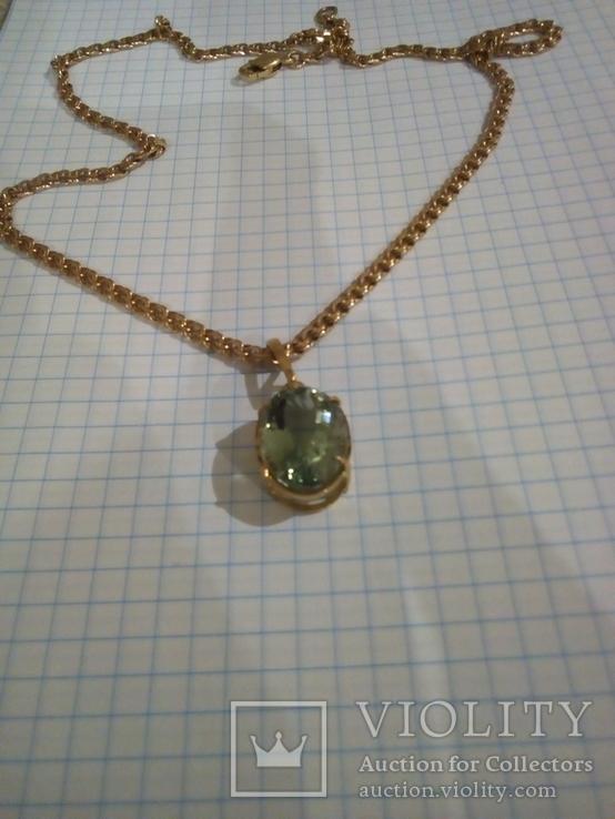 Золотой кулон с аметистом 585, фото №7