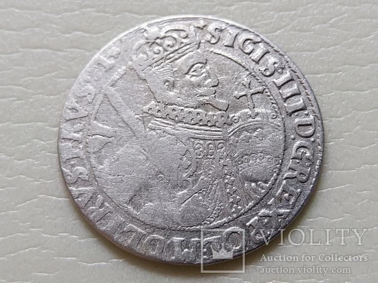 Коронный Орт 1622 год. Быгдощ. (№6). SIGIS-сдвоенные буквы., фото №3