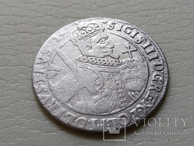 Коронный Орт 1622 год. Быгдощ. (№6). SIGIS-сдвоенные буквы., фото №4