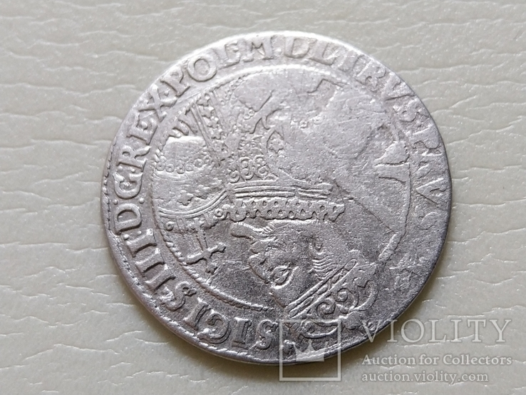 Коронный Орт 1622 год. Быгдощ. (№6). SIGIS-сдвоенные буквы., фото №6