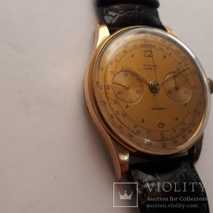 Часы золотые швейцарские TITUS, фото №3