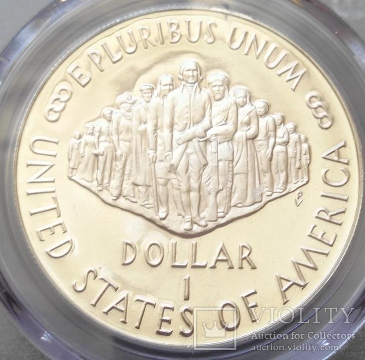 "Доллар США 1987 год ""200 лет конституции"" слаб PCGS ""PR-69"", фото №5"