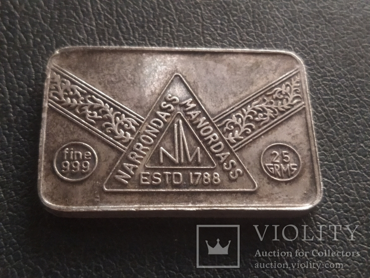 Слиток серебра № 2 25 грамм, фото №2