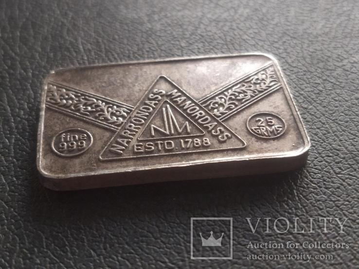 Слиток серебра № 2 25 грамм, фото №3