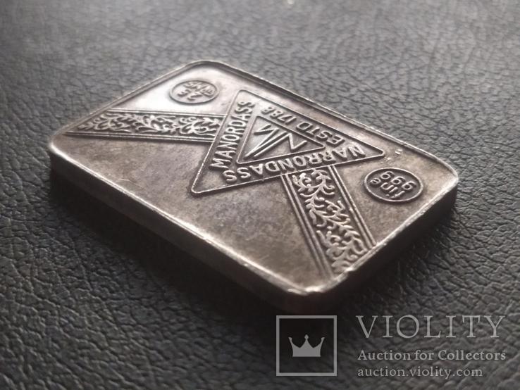 Слиток серебра № 2 25 грамм, фото №4
