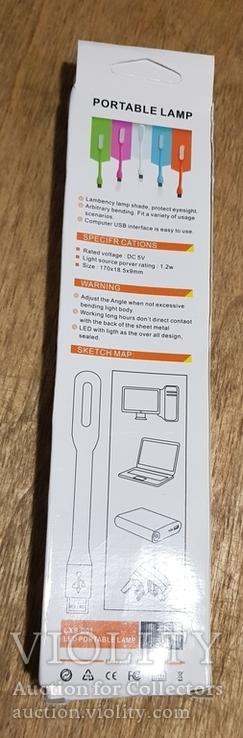 USB Лампа розовая (для powerbank, notebook), фото №8