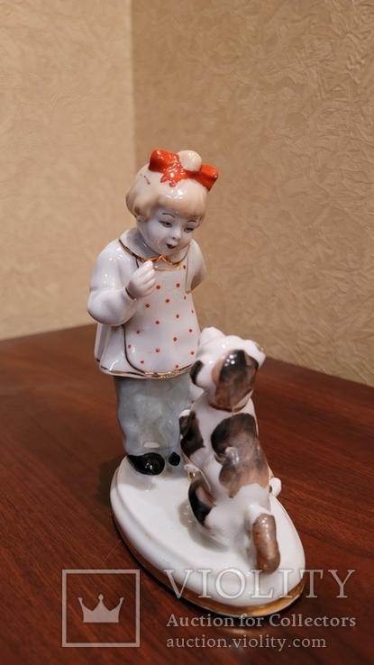 Дівчинка з песиком та лялькою, фото №4