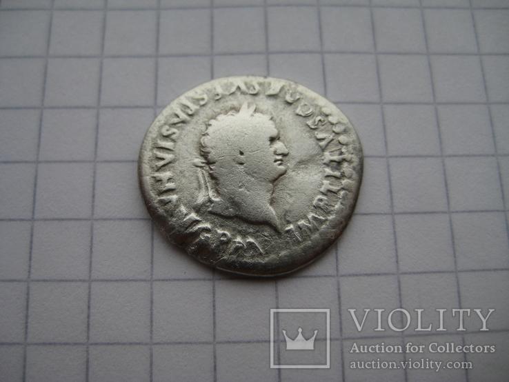 Денарий, Веспасиан (нечастый реверс), фото №4