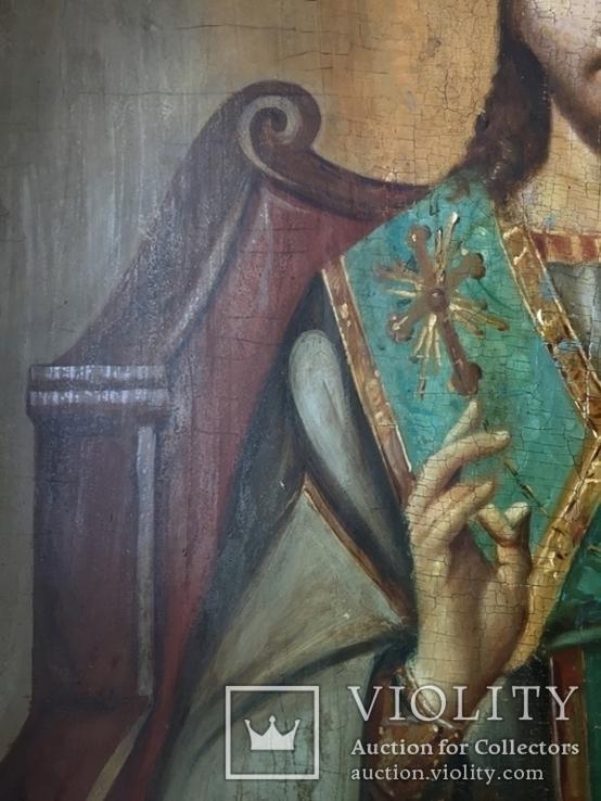 Икона Спас на троне Академическая, фото №9