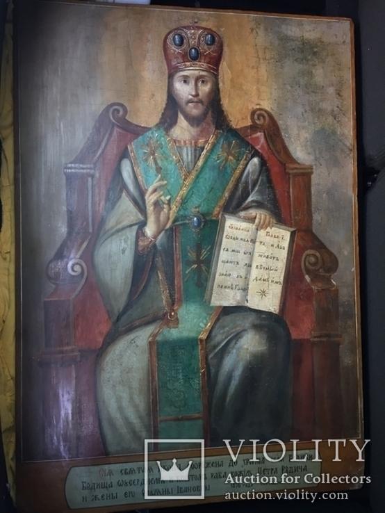 Икона Спас на троне Академическая, фото №2