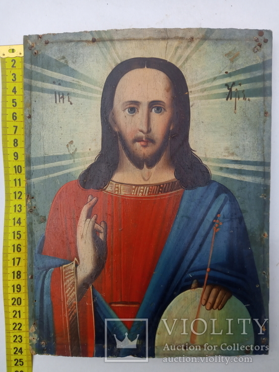 Ікона Ісус Христос Вседержитель 18×23,5 см, фото №7