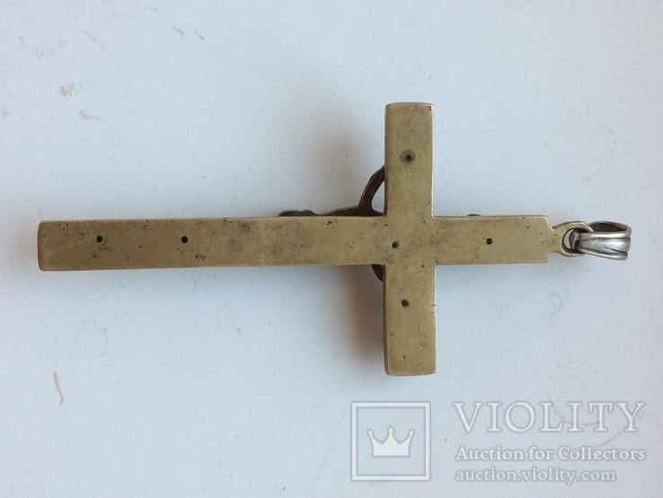 Нательный крест украшен жемчугом, фото №4