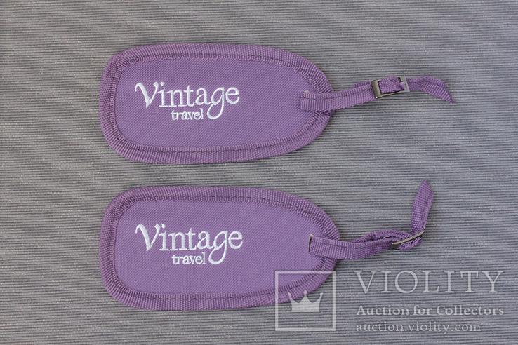 Две бирки на чемодан Vintage travel, фото №2