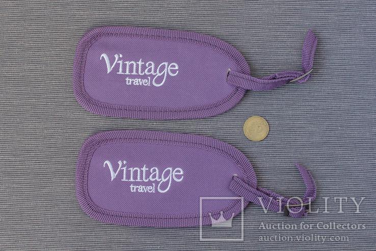 Две бирки на чемодан Vintage travel, фото №6